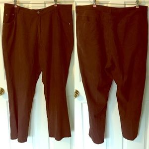 Venezia Brown Suede feel Pants 22 Plus Size